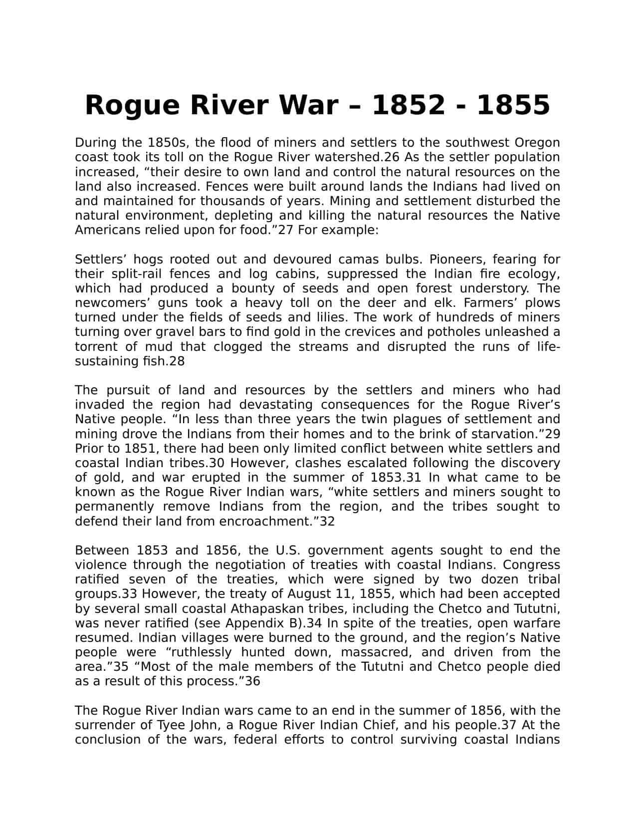 Rogue River War Worksheet