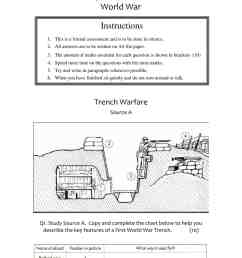 WWI Source Assessment Worksheet   Year 9 (KS3) Lesson Resource [ 1754 x 1241 Pixel ]