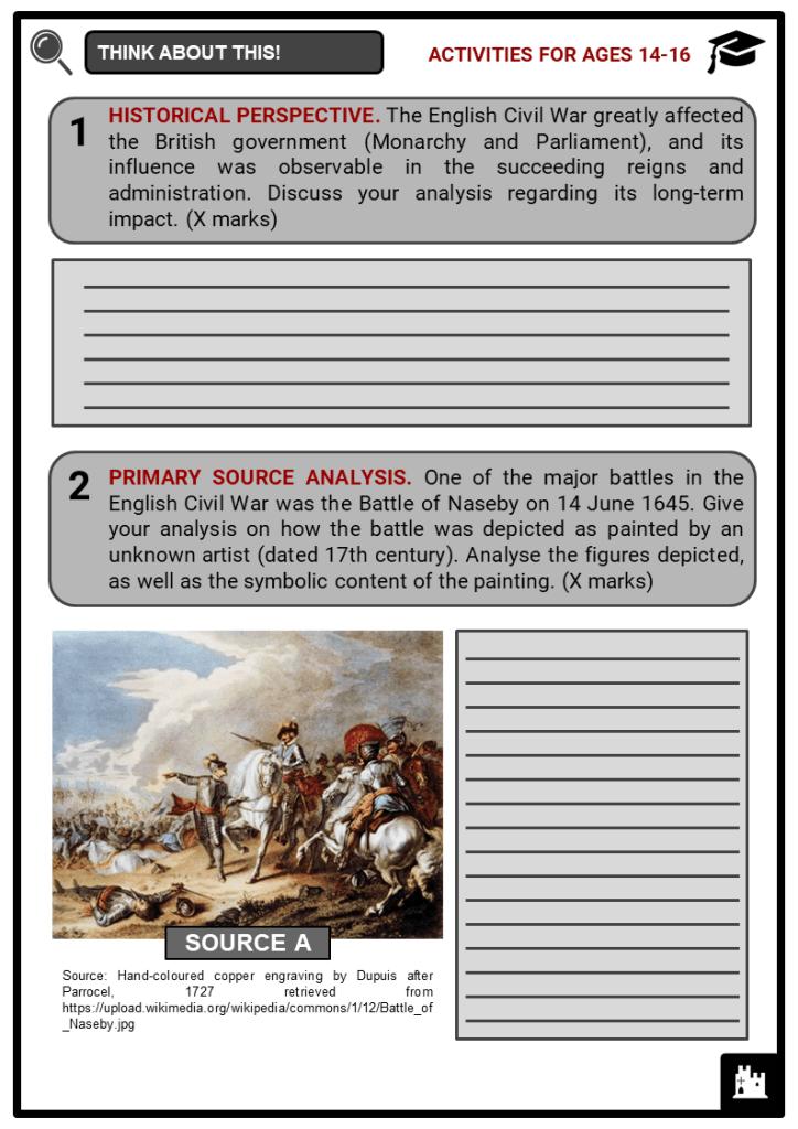 English Civil War Facts, Worksheets & Historical Context ...