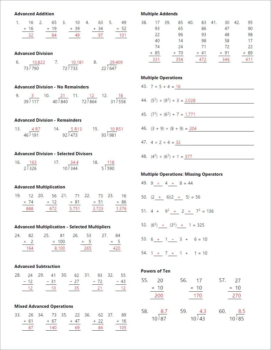 medium resolution of Math Worksheet Generator for Teachers   Math Resource Studio
