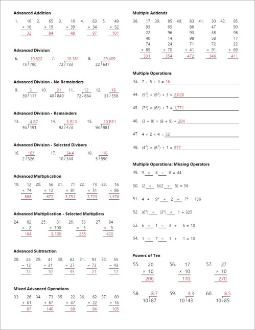 small resolution of Math Worksheet Generator for Teachers   Math Resource Studio