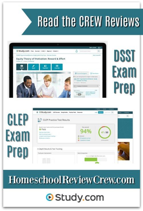 CLEP & DSST Exam Prep {Study.com Reviews}