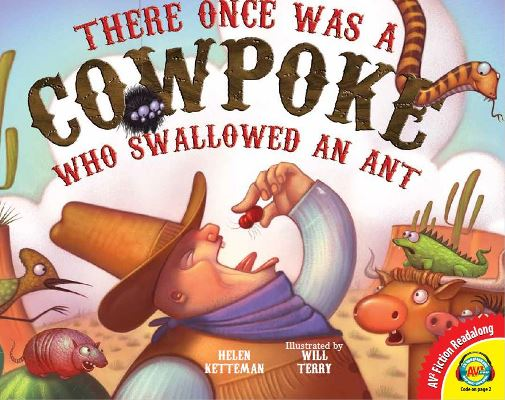 There Once Was a Cowpoke Who Swallowed an Ant, Review, #hsreviews, #AV2Books, #MediaEnhancedBooks, #digitalbooks, #digitallearning, media enhanced books, AV2 Books, Digital books