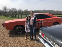 The Hampton Girls with the General Lee
