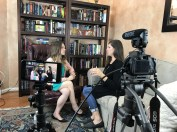 Jennifer Murff and Yvette Hampton - Behind the Scenes on Homeschool Movie