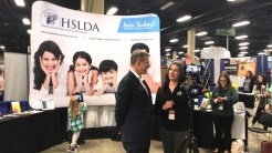 Mike Donnelly and Yvette Hampton interviewing for Schoolhouse Rocked - Homeschool Documentary, HSLDA