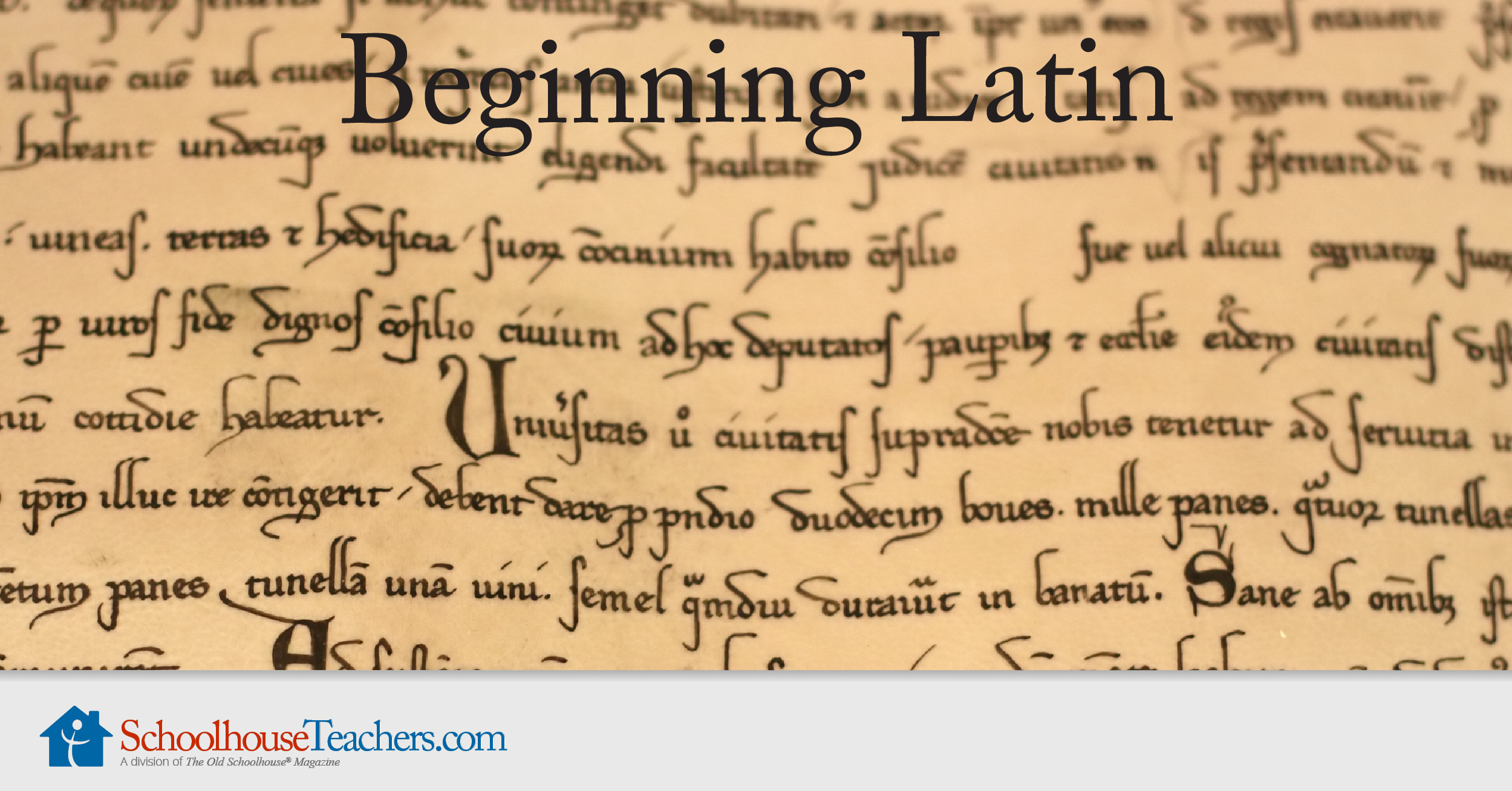 Beginning Latin A Homeschool Latin Online Course