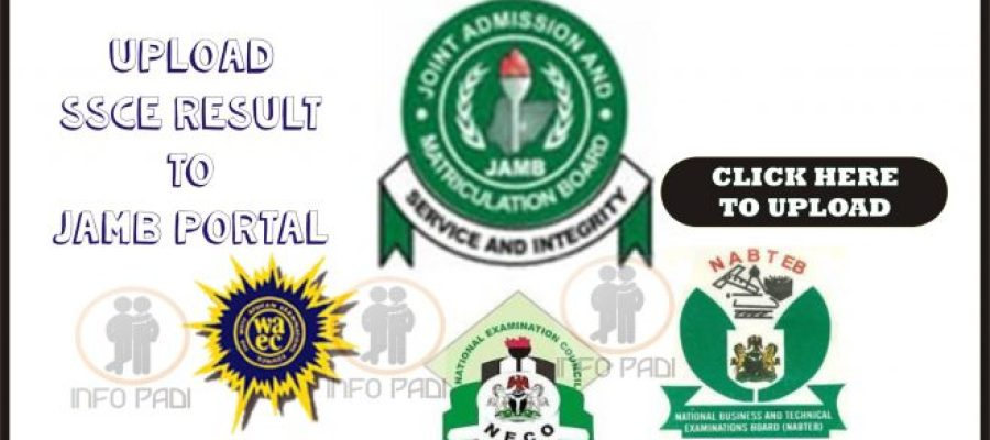 How to Upload O'level Result on JAMB Portal