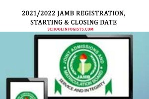 JAMB 2021/2022 REGISTRATION FORM, EXAM DATE, CLOSING DATE AND HOW TO REGISTER