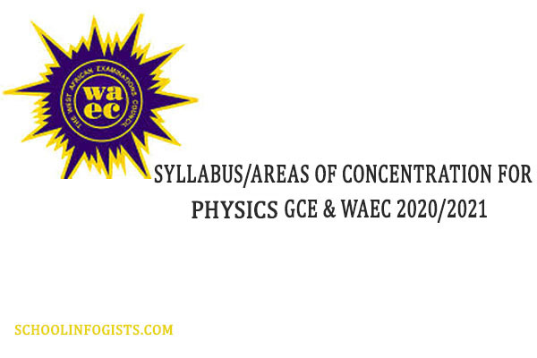 areas of concentration for waec physics