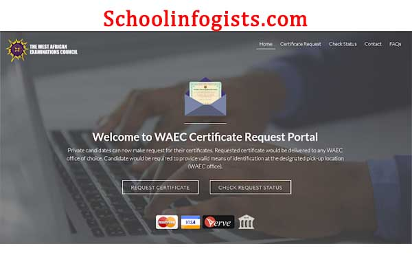 WAEC result request portal