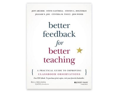 Book: Better Feedback for Better Teaching