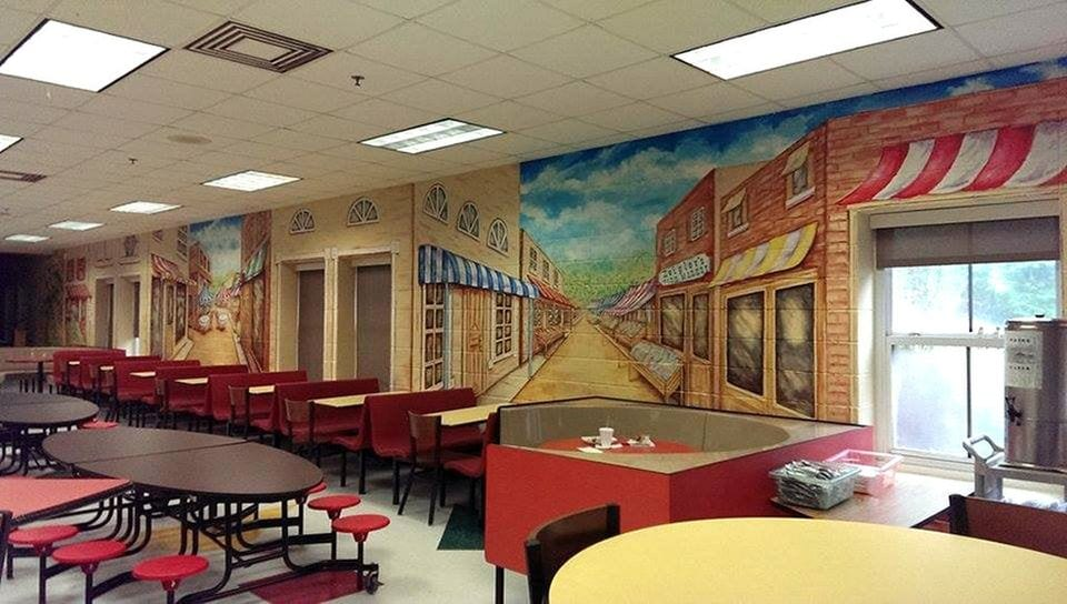 It Pays Homage To U201cOld Ann,u201d An Ancient Oak Tree, And The Original Spring  Hill School Buildingu2014both Still On The Campus. The Mural Wraps Around The  Entire ...