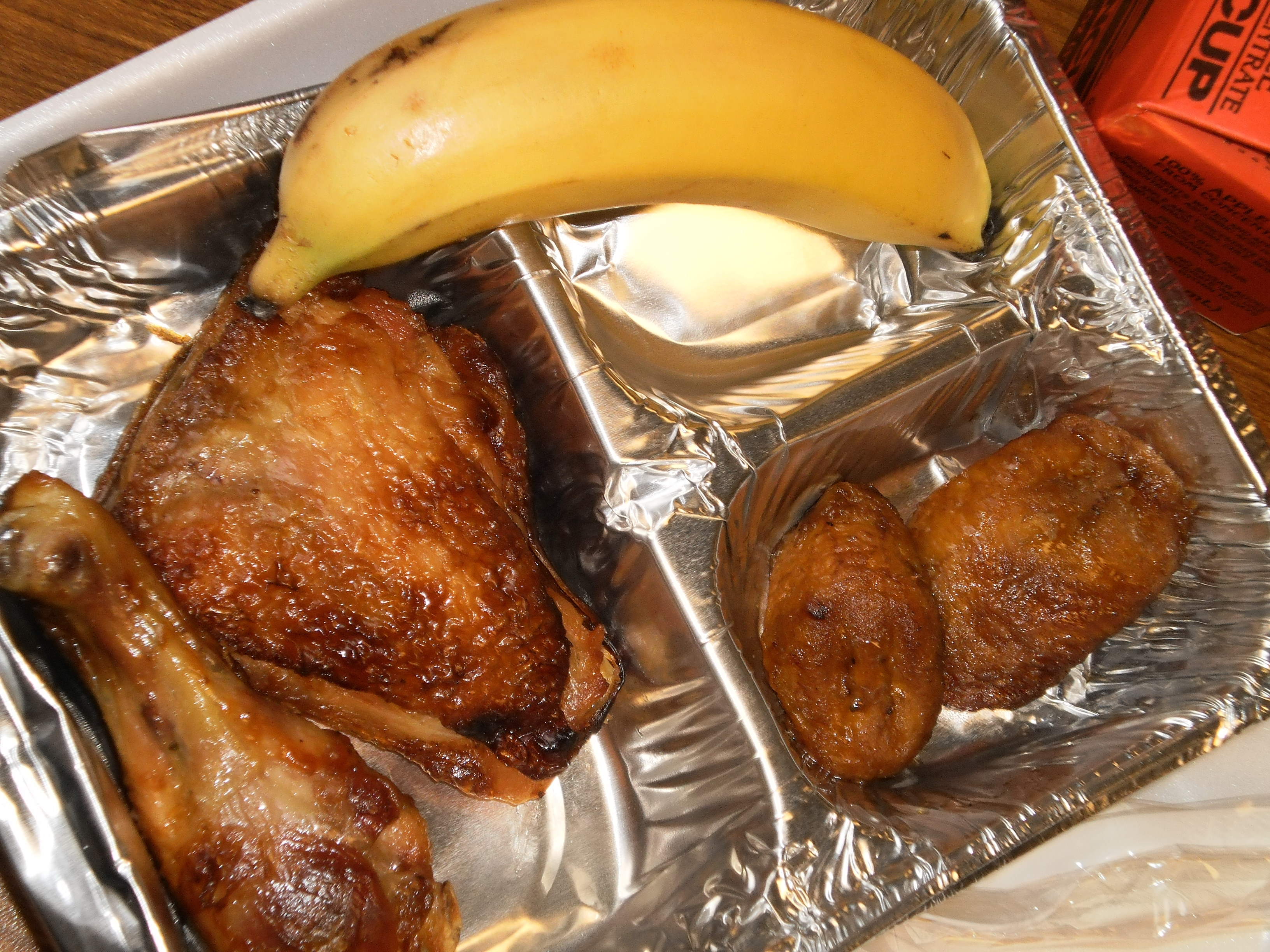 chicken and plantains bananas school lunch found guilty