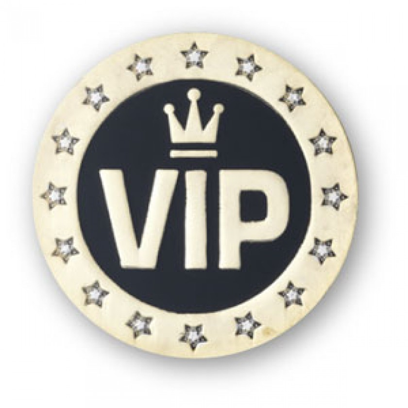 vip enamel badge pack