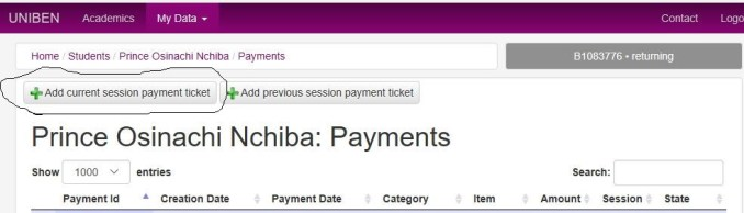 uniben school fees payment