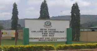 Osun State College of Technology (OSCOTECH) News