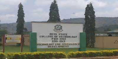 Osun State College of Technology (OSCOTECH) News