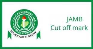 JAMB Cut-off Mark