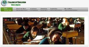 COEWarri NCE Admission Form Out - 2018/2019 1