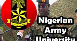 Nigerian Army University Admission Biu List Out For 2018/2019 1