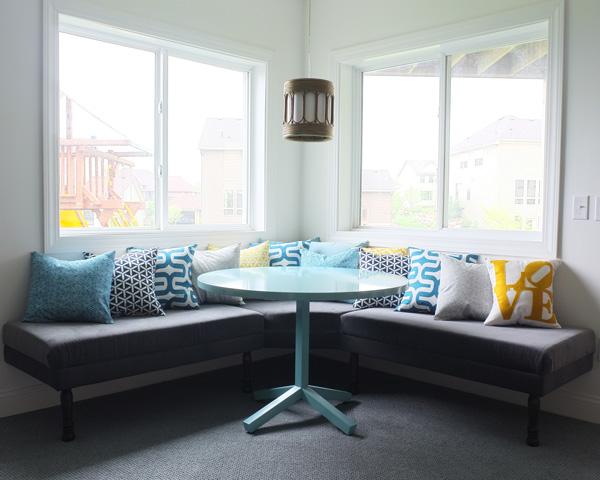 DIY Upholstered Built-In Bench {Part 2}