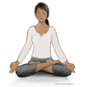 padmasana  lotus pose  school of yoga