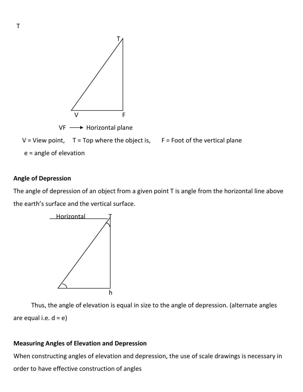 ANGLES OF ELEVATION AND DEPRESSION — SCHOOL PORTAL NG
