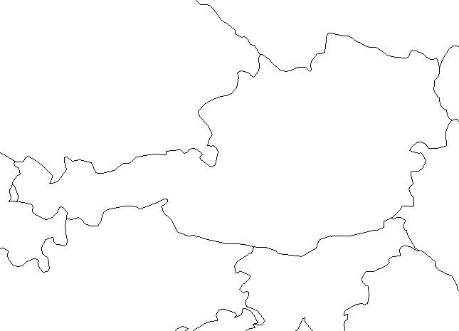 Blank Outline Map of Austria — Schools at Look4