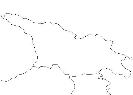 Blank Outline Map of Georgia — Schools at Look4