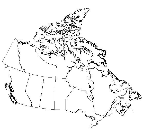 Blank Outline Maps of Canada — Schools at Look4