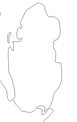 Blank Outline Map of Qatar — Schools at Look4