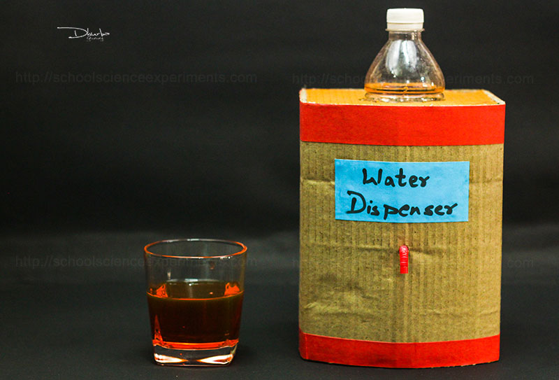 How To make Water Dispenser From Cardboard