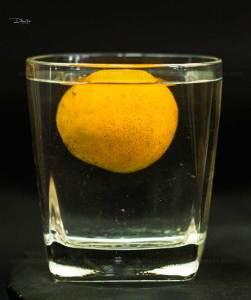 density experiment with orange