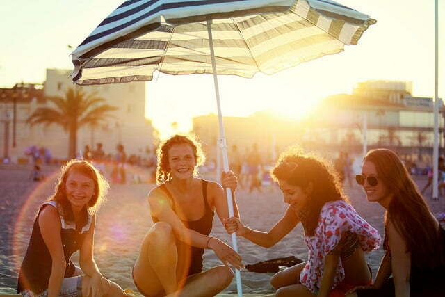 Freizeit am Strand in Valencia
