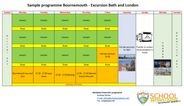 Immersion Programm - Week Programme