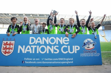 English Schools Football Association Danone Nations Cup Winners at Ricoh Arena on Friday 19th May 2018 (c) Garry Griffiths | ThreeFiveThree Photography