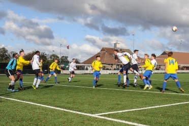 English Schools Football Association Under 18 Boys South East Trials at Bedfont Sports on Sunday 28th October 2018 (c) Garry Griffiths | ThreeFiveThree Photography