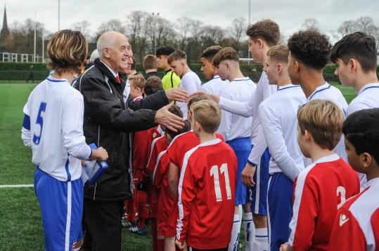 English Schools Football Association Under 18 England Schoolboys v Australia Schoolboys at Stafford Town FC on Saturday 26th January 2019 (c) Garry Griffiths | ThreeFiveThree Photography