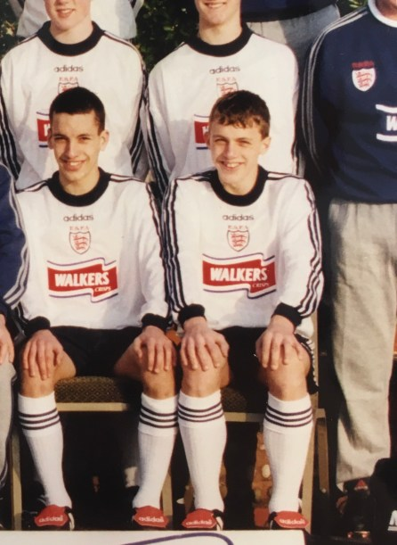 Stephen Warnock and Leon Osman England Schoolboys'