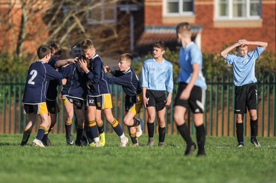 Hanham Woods Academy v Kennet School in a English Schools Football Association Under 13 Boys Schools Cup Round 7 match at Hanham Woods Academy on Thursday 14th February 2019 (c) Garry Griffiths | ThreeFiveThree Photography