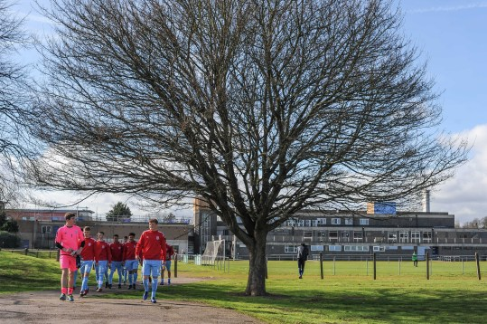 English Schools Football Association Under 18 Boys vs UCFB at Vale Farm Sports Centre on Saturday 2nd March 2019 (c) Garry Griffiths | ThreeFiveThree Photography