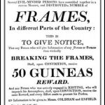 Poster offering a reward to those who gave information leading to the conviction of Luddites