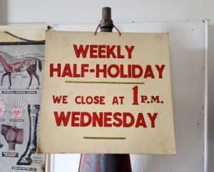 Half Day Closing