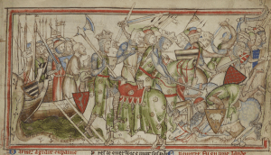 13th Century illustration of the Battle of Fulford