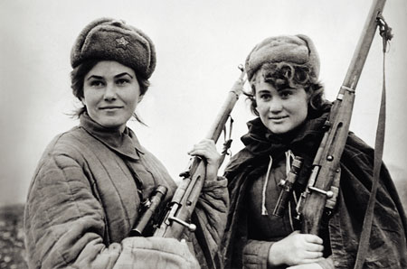 Women members of a Soviet military unit