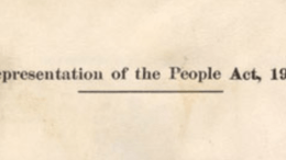 Women's Suffrage - Representation of the People Act 1918