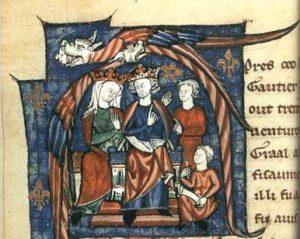 Henry II holding court. 12th Century image.