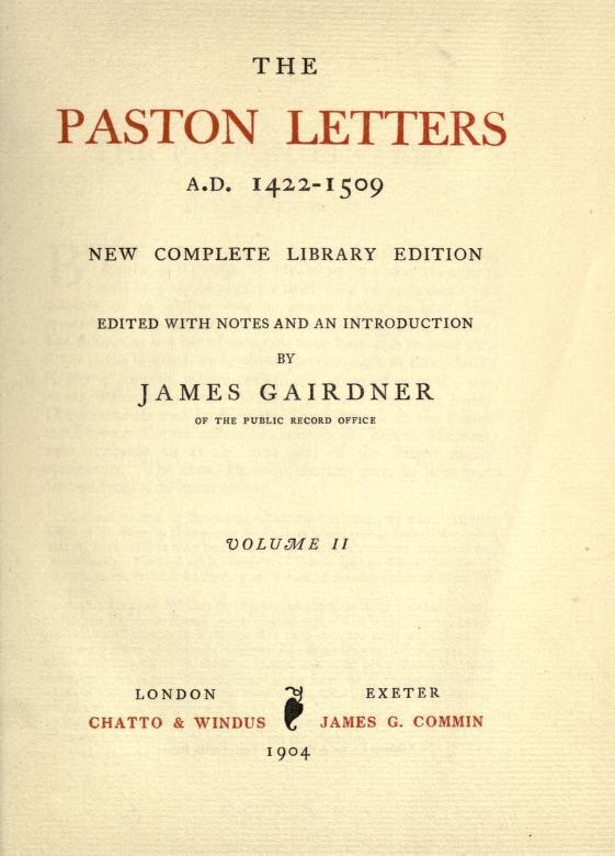 Paston Letters