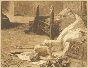 The burial of William the Conqueror